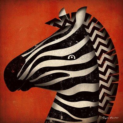 """DEInternationalGraphics Acrylglasbild """"Zebra WOW"""" von Ryan Fowler, Kunstdruck"""