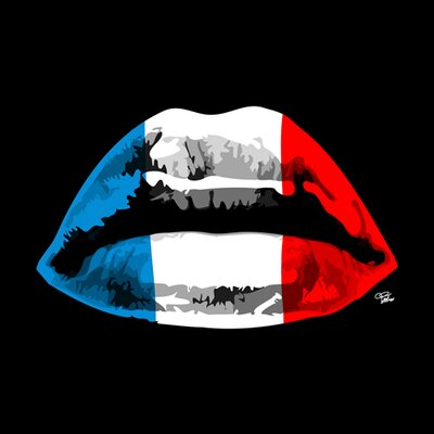 "DEInternationalGraphics Acrylglasbild ""French Kiss"" von Morgan Paslier, Grafikdruck"