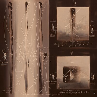 """DEInternationalGraphics """"Sens et non sens III"""" von Carole Bécam, Grafikdruck"""