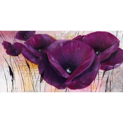 """DEInternationalGraphics """"Pavot violet II"""" von Isabelle Zacher- Finet, Kunstdruck"""