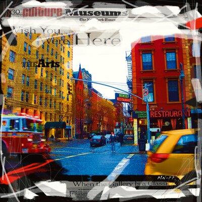 """DEInternationalGraphics """"Camion de pompier New York"""" von MN.FF, Grafikdruck"""