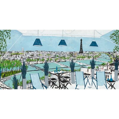 """DEInternationalGraphics """"La grande terrasse"""" von BORDERIE, Kunstdruck"""