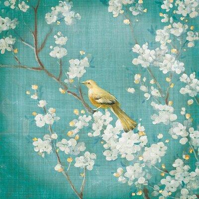 "DEInternationalGraphics Acrylglasbild ""Cherry Blossoms II on Blue"" von Danhui Nai, Kunstdruck"