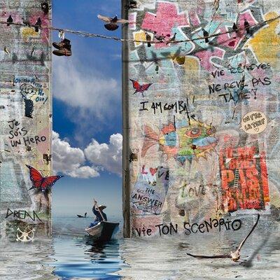 """DEInternationalGraphics Acrylglasbild """"Le passeur de mots"""" von Maïlo / Marie-Laure Vareilles, Grafikdruck"""