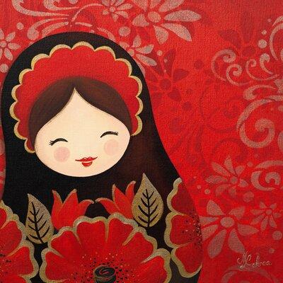 """DEInternationalGraphics """"Marouchka pleine de joie"""" von Myriam Lakraa, Kunstdruck"""