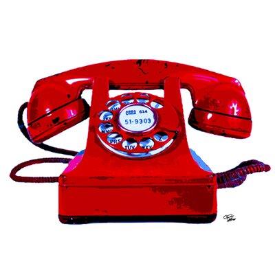 """DEInternationalGraphics Acrylglasbild """"Red Phone"""" von Morgan Paslier, Kunstdruck"""