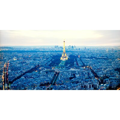 """DEInternationalGraphics """"Paris Blues"""" von Anne Valverde, Fotodruck"""