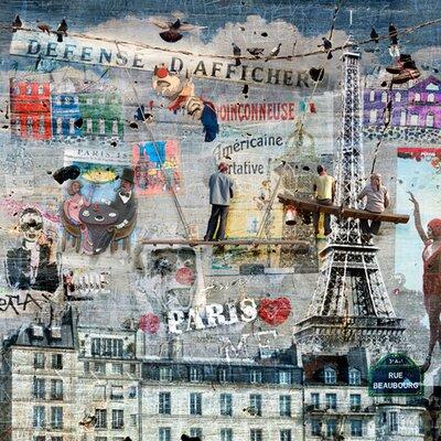 """DEInternationalGraphics Acrylglasbild """"Les peintres de graffitis: Paris"""" von Maïlo / Marie-Laure Vareilles, Grafikdruck"""