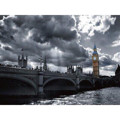 "DEInternationalGraphics ""Westminster Bridge from South Bank"" von Simon Kayne, Fotodruck"