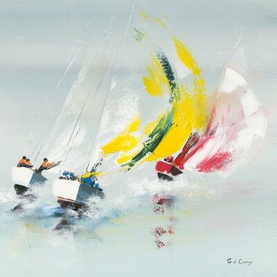 """DEInternationalGraphics Acrylglasbild """"Les Spi jaunes"""" von Gérard de Courcy, Kunstdruck"""