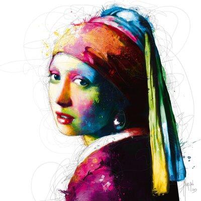 """DEInternationalGraphics """"Vermeer Pop"""" von Patrice Murciano, Kunstdruck"""