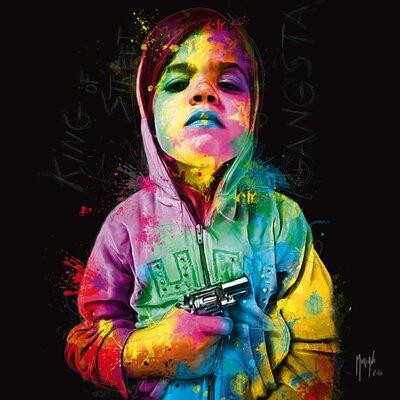 """DEInternationalGraphics """"Gangsta Child, King of Street"""" von Patrice Murciano, Kunstdruck"""