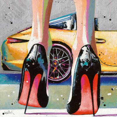 "DEInternationalGraphics ""My high Heels, my pretty Car and Me"" von Patrick Cornée, Kunstdruck"
