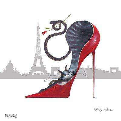 """DEInternationalGraphics """"With Paris Sky Line"""" von Marilyn Robertson, Kunstdruck"""
