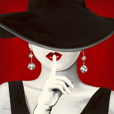 "DEInternationalGraphics Acrylglasbild ""Haute Chapeau Rouge I"" von Marco Fabiano, Kunstdruck"