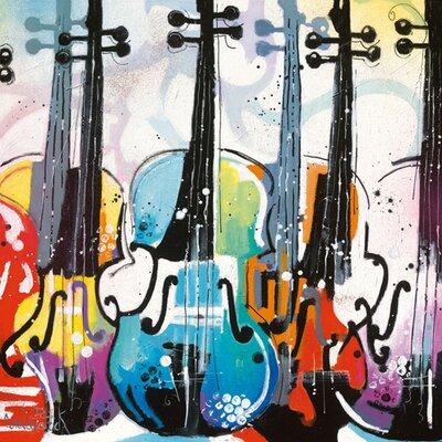 """DEInternationalGraphics """"Variation for Violin II"""" von Patrick Cornée, Kunstdruck"""