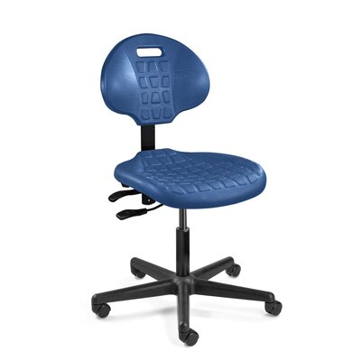 Everlast Ergonomic Office Chair Casters / Glides: Glides, Upholstery: Blue