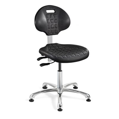 Everlast Ergonomic Office Chair Casters / Glides: Glides, Upholstery: Black