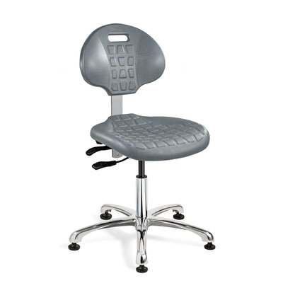 Everlast Ergonomic Office Chair Casters / Glides: Glides, Upholstery: Gray