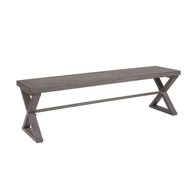 Cohesion Program Wood Bench Color: Grigio