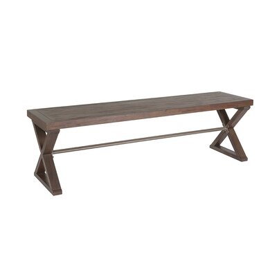 Cohesion Program Wood Bench Color: Marrone
