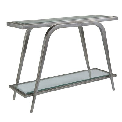 Metal Designs Console Table Table Base Color: Argento
