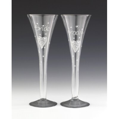 Boxer Gifts Bride and Groom Champagne Flute