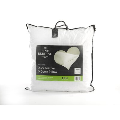 The Fine Bedding Company Duck Feather and Down Square Pillow