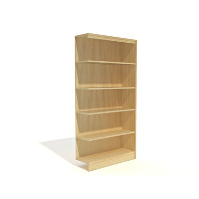 Durecon Standard Single Face Bookcase Add-on Finish: Natural Maple, Size: 72'' H x 36'' W x 12'' D