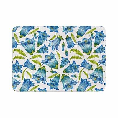 "Alisa Drukman Campanula Floral Memory Foam Bath Rug Size: 0.5"" H x 17"" W x 24"" D"