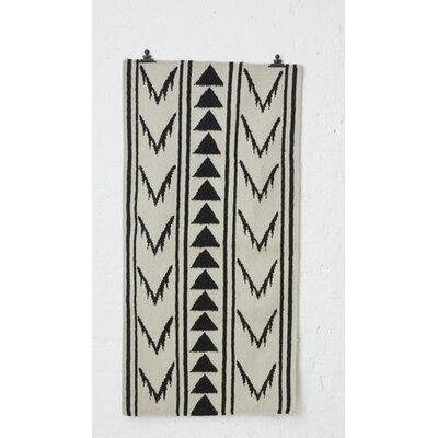 Holly's House Aztec Tetzcoco Hand-Woven Black/Warm Grey Area Rug