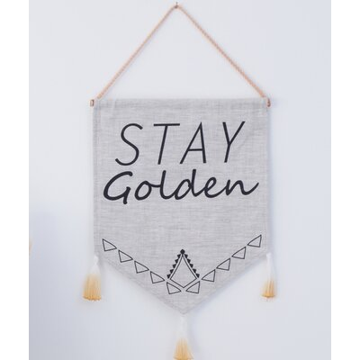 Holly's House Stay Golden Wall Decor