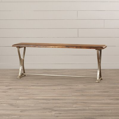 Morganton Wood and Metal Bench