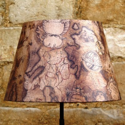Hill House Design 30cm Sailing Map Fabric Empire Shade Lamp Fitting