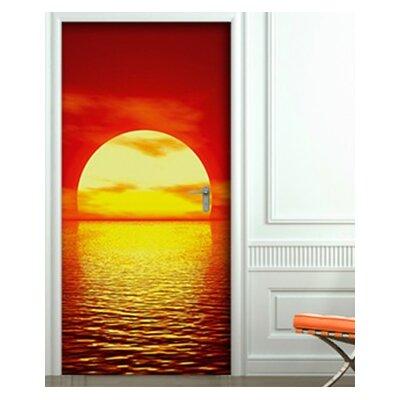 PPS. Imaging GmbH Tapete Red Sunset 210 cm H x 100 cm B