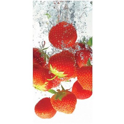 PPS. Imaging GmbH Tapete Strawberry Bath 210 cm H x 100 cm B