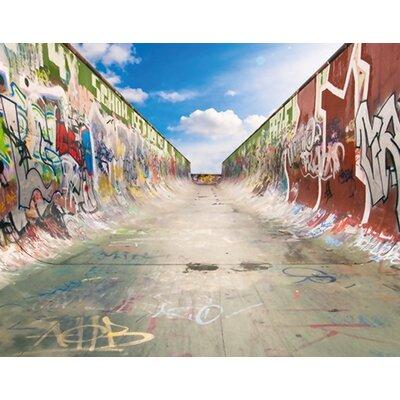 PPS. Imaging GmbH Tapete Graffiti Half Pipe 200 cm B cm H x 280 cm B