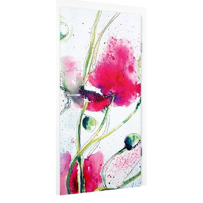 PPS. Imaging GmbH Tapete Painted Poppies 215 cm B cm H x 96 cm B