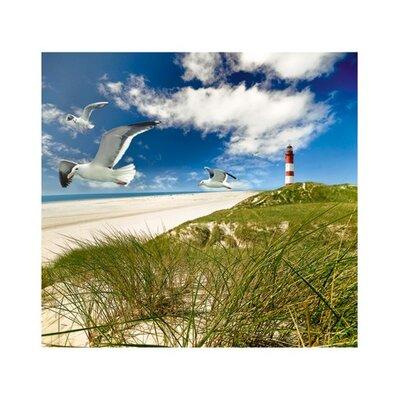 PPS. Imaging GmbH Tapete Lighthouse in Dunes 280 cm B cm H x 300 cm B