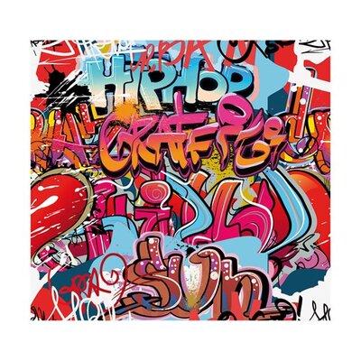 PPS. Imaging GmbH Tapete Hiphop Graffiti Wall 280 cm H x 300 cm B