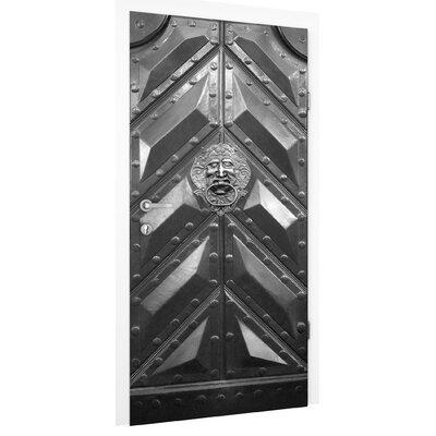PPS. Imaging GmbH Tapete Alte Tür aus Stahl mit Löwenkopf Türklopfer 215 cm B cm H x 96 cm B