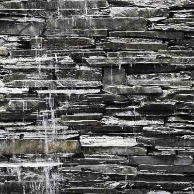PPS. Imaging GmbH Tapete Water Stonewall 290 cm H x 432 cm B