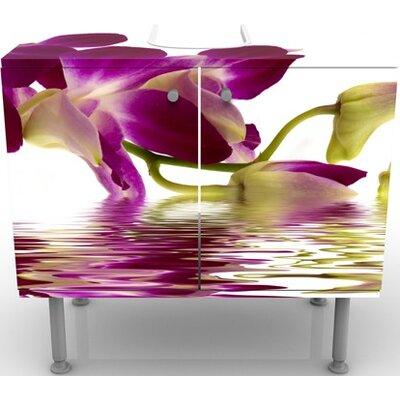 PPS. Imaging GmbH 60 cm Waschbeckenunterschrank Pink Orchid Waters