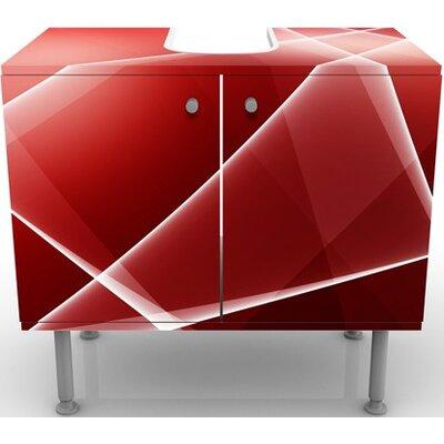 PPS. Imaging GmbH 60 cm Waschbeckenunterschrank Red Heat