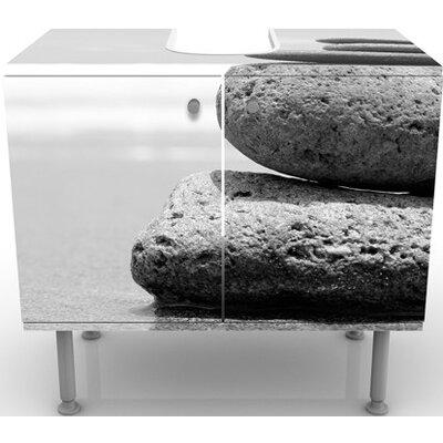 PPS. Imaging GmbH 60 cm Waschbeckenunterschrank Sand Stones No.2