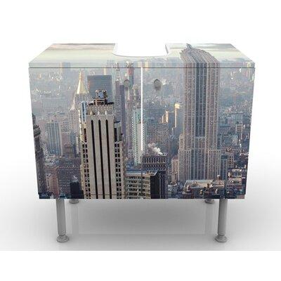 PPS. Imaging GmbH 60 cm Waschbeckenunterschrank Sonnenaufgang in New York