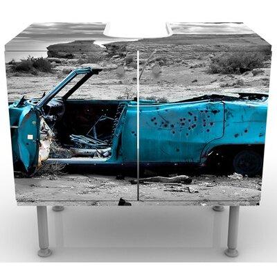 PPS. Imaging GmbH 60 cm Waschbeckenunterschrank Türkiser Cadillac