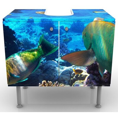 PPS. Imaging GmbH 60 cm Waschbeckenunterschrank Underwater Dreams