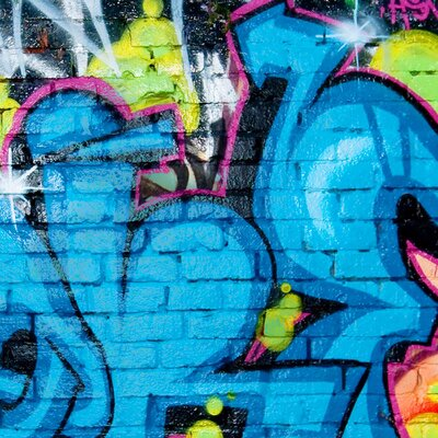 PPS. Imaging GmbH Tapete Colours of Graffiti 290 cm H x 432 cm B