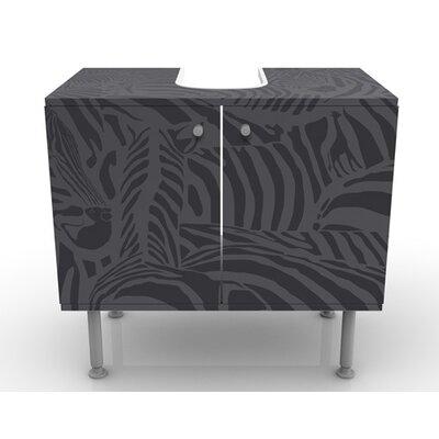 PPS. Imaging GmbH 60 cm Waschbeckenunterschrank Zebras